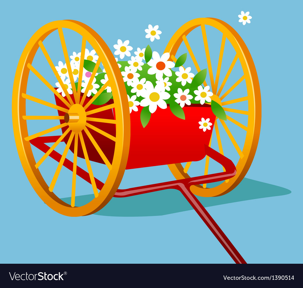 A view of a wagon vector   Price: 1 Credit (USD $1)