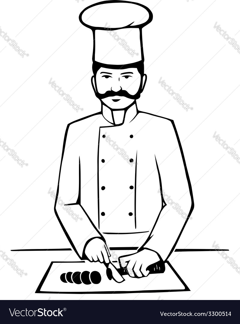 Chief at work vector | Price: 1 Credit (USD $1)