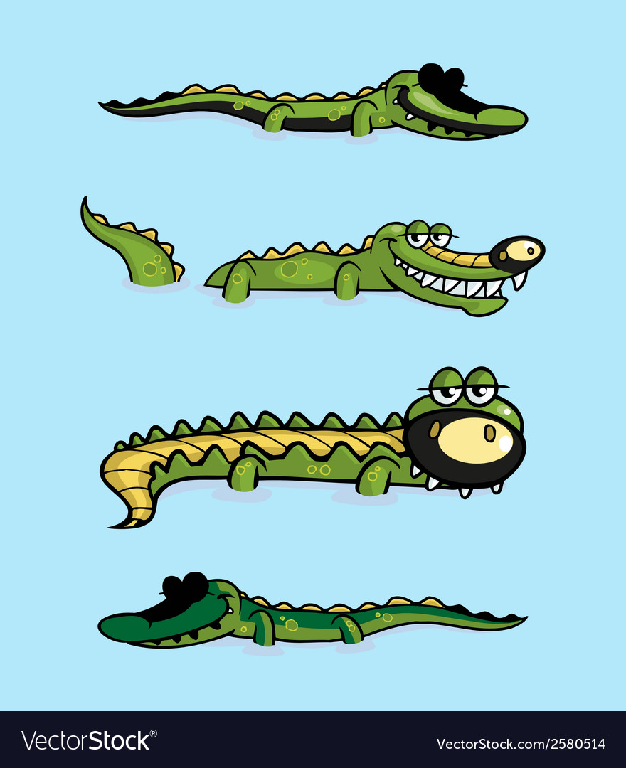 Crocodile collection vector | Price: 1 Credit (USD $1)