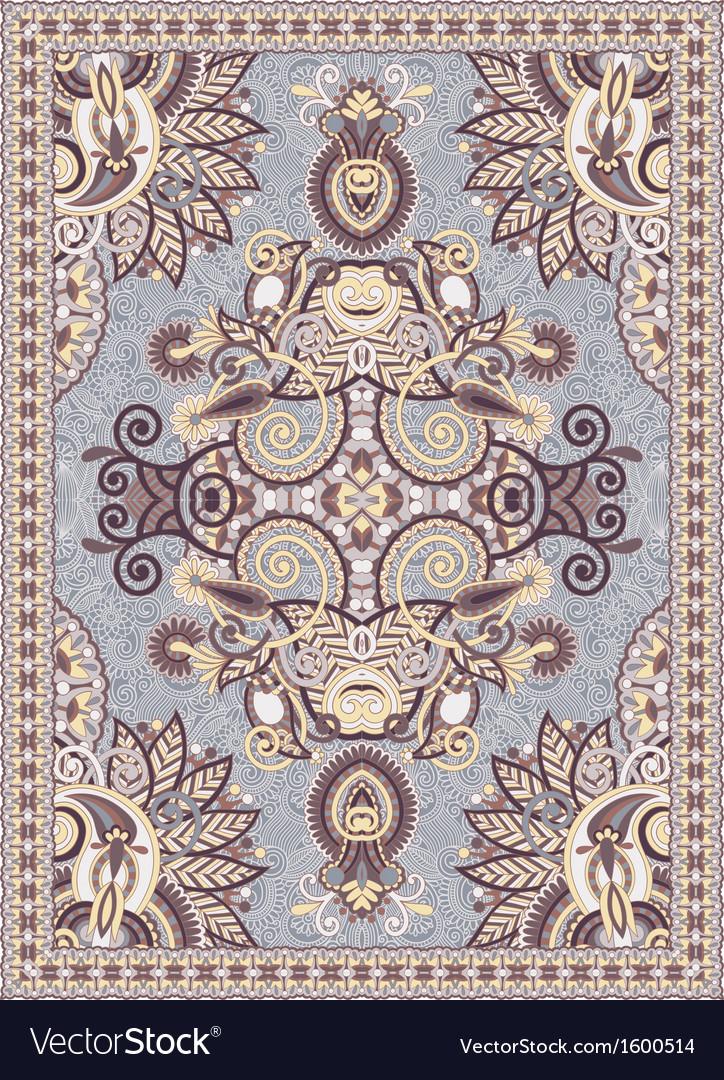 Floral ornamental seamless carpet vector | Price: 1 Credit (USD $1)