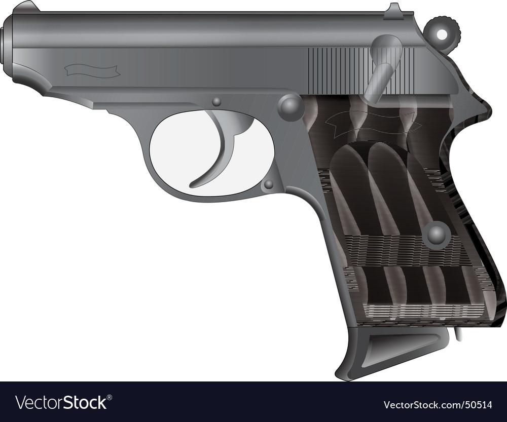 Modern pistol vector | Price: 1 Credit (USD $1)