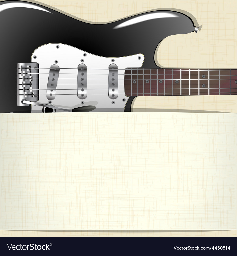 Music background with guitar and a horizontal vector | Price: 3 Credit (USD $3)