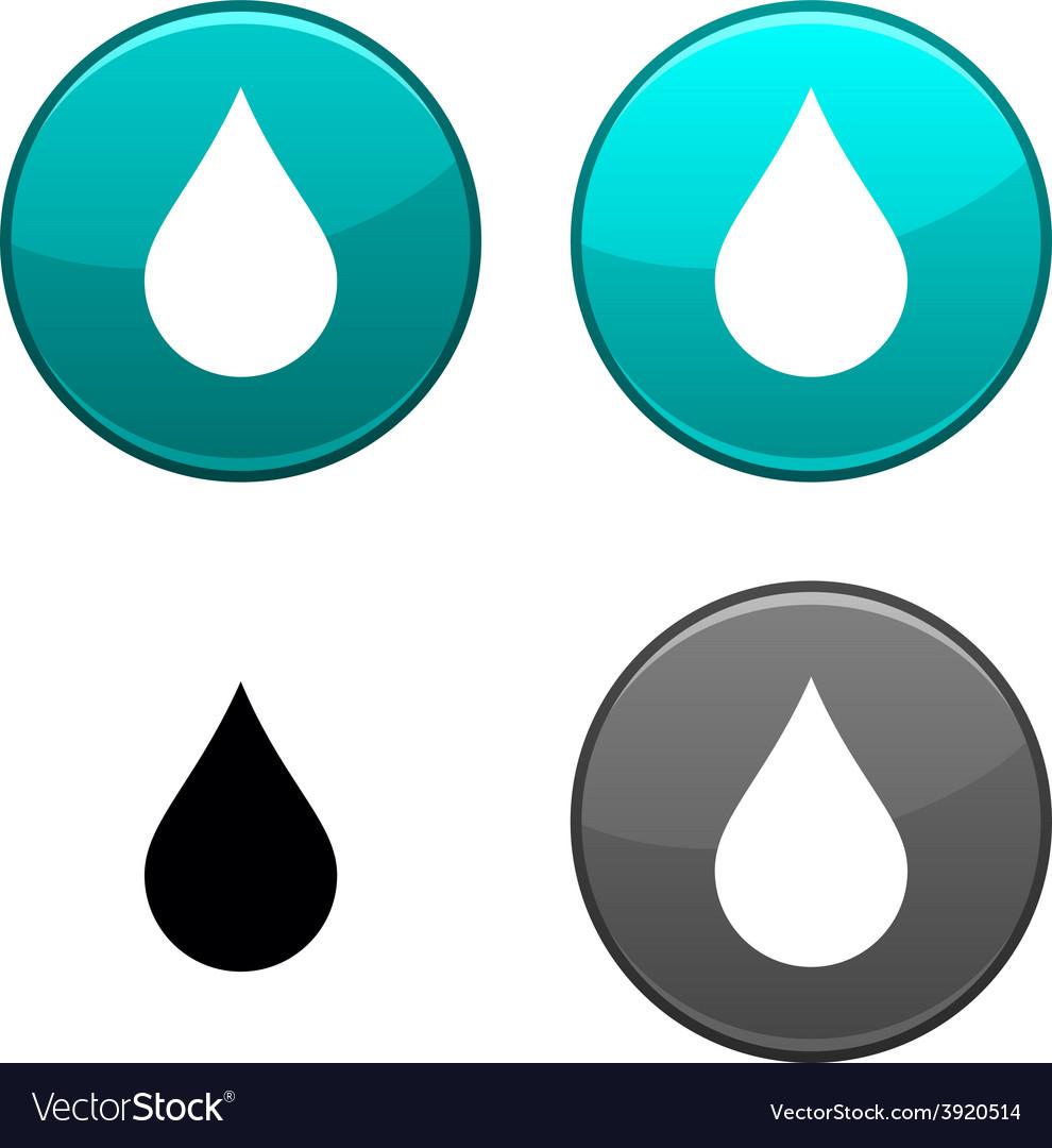 Rain button vector | Price: 1 Credit (USD $1)