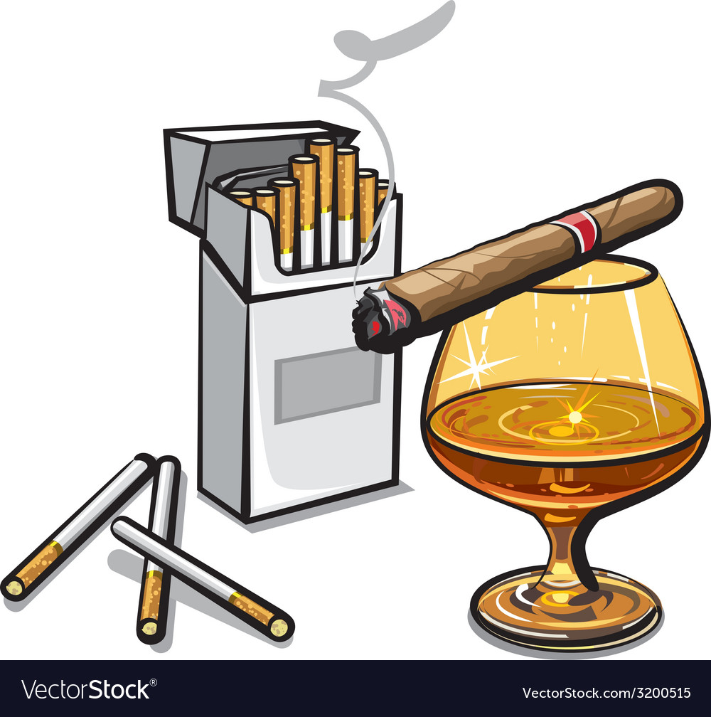 Alcohol and cigarettes vector | Price: 3 Credit (USD $3)
