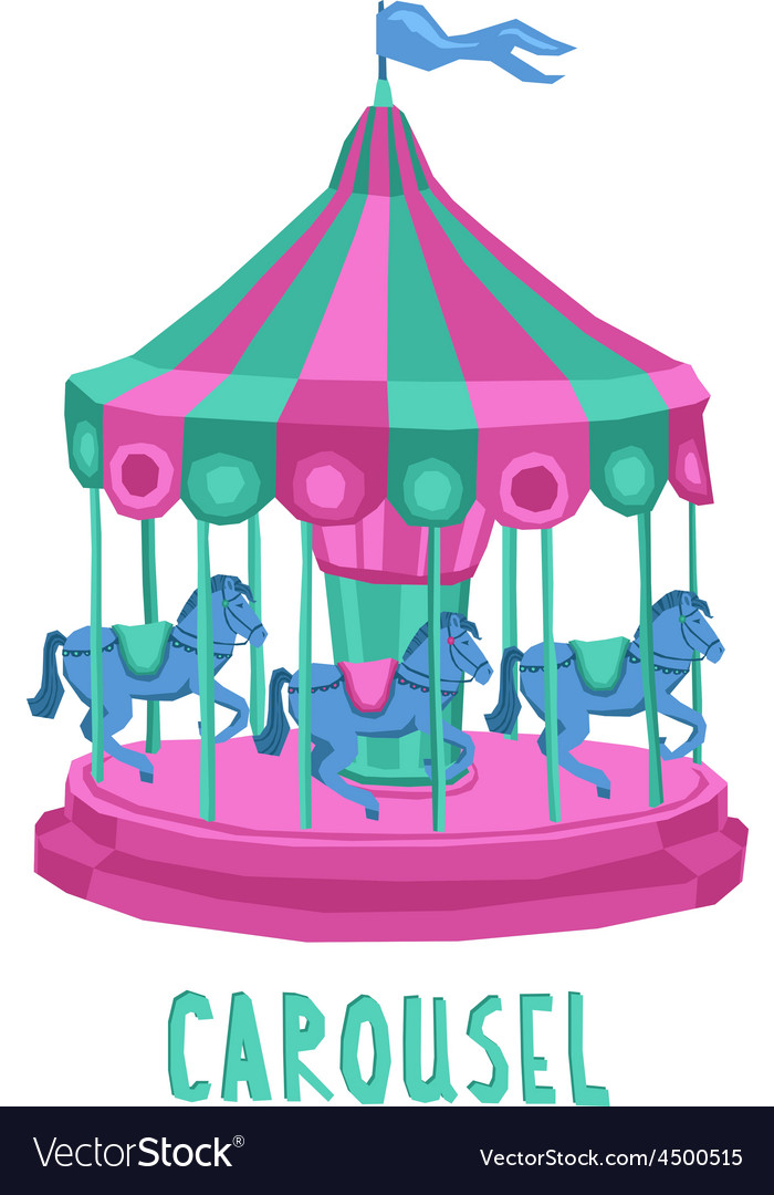 Child carousel vector | Price: 3 Credit (USD $3)