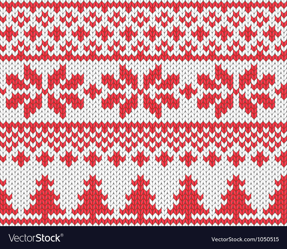 Christmas knitted background vector | Price: 1 Credit (USD $1)