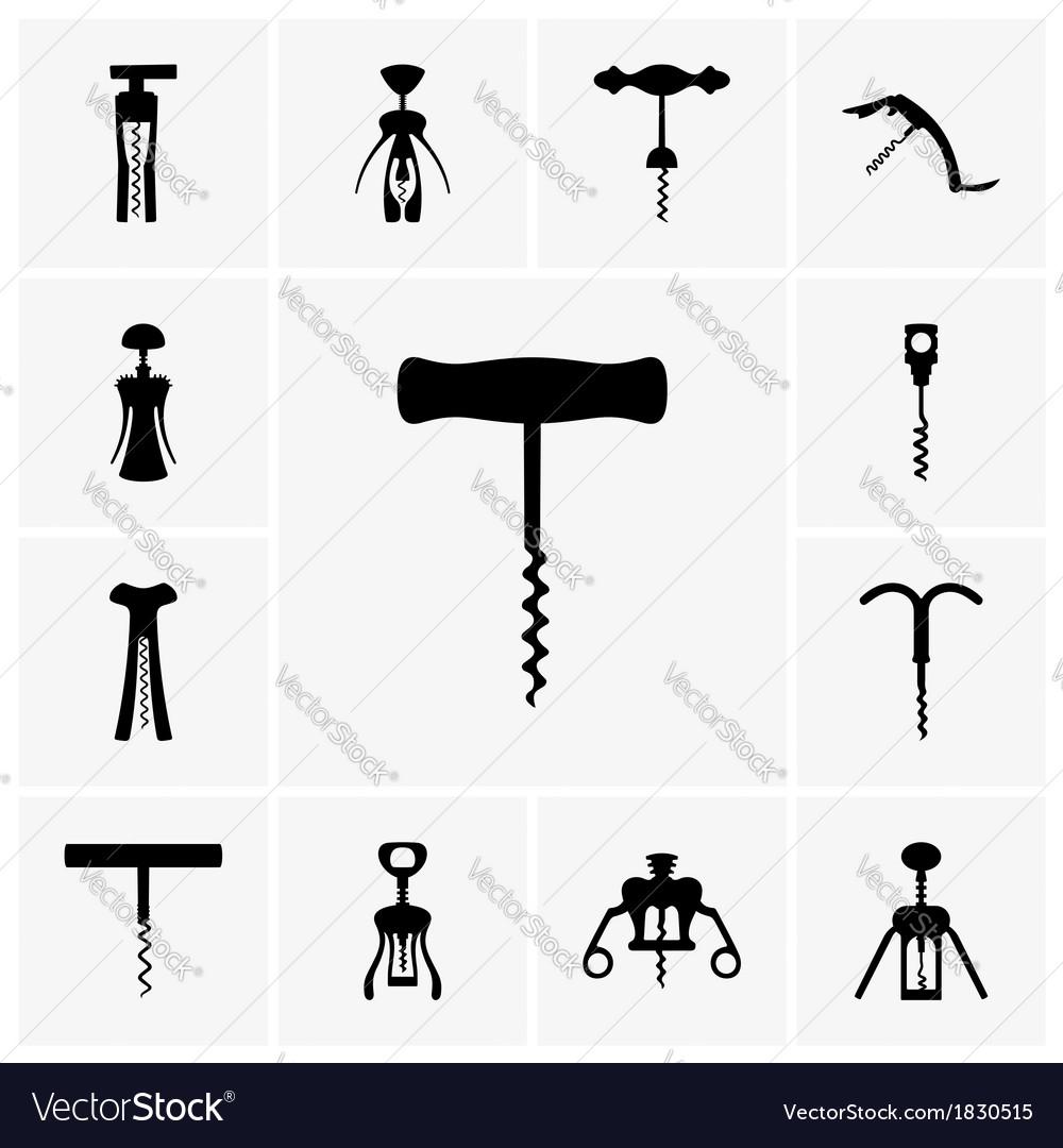 Corkscrews vector