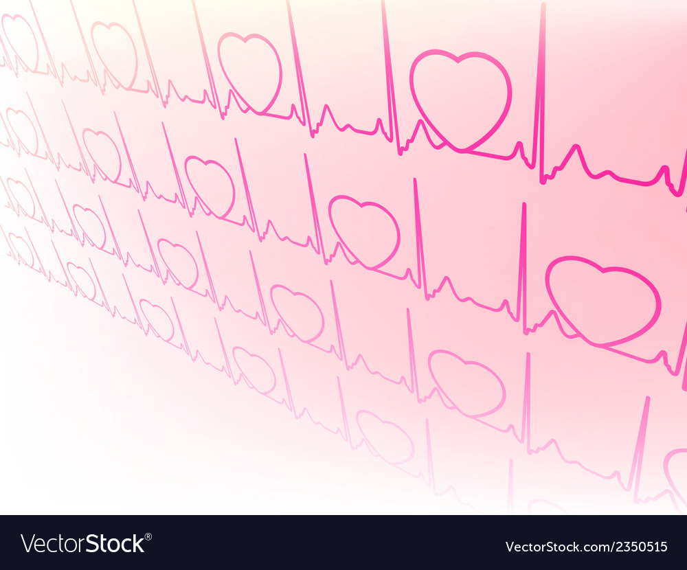 Electrocardiogram waveform from ekg test eps 8 vector | Price: 1 Credit (USD $1)