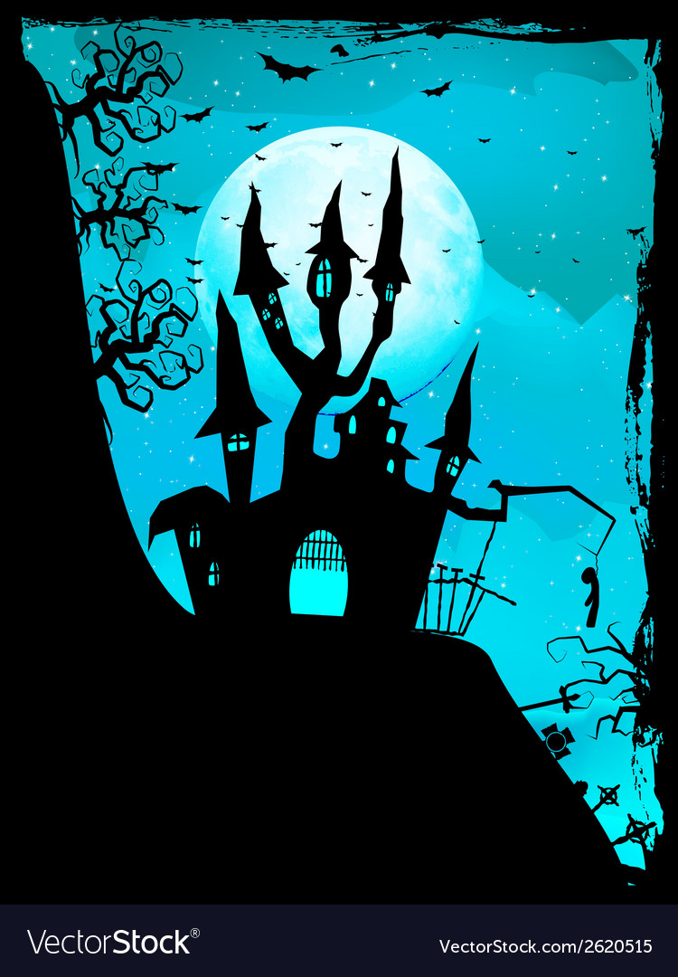 Halloween composition with horror house eps 10 vector | Price: 1 Credit (USD $1)