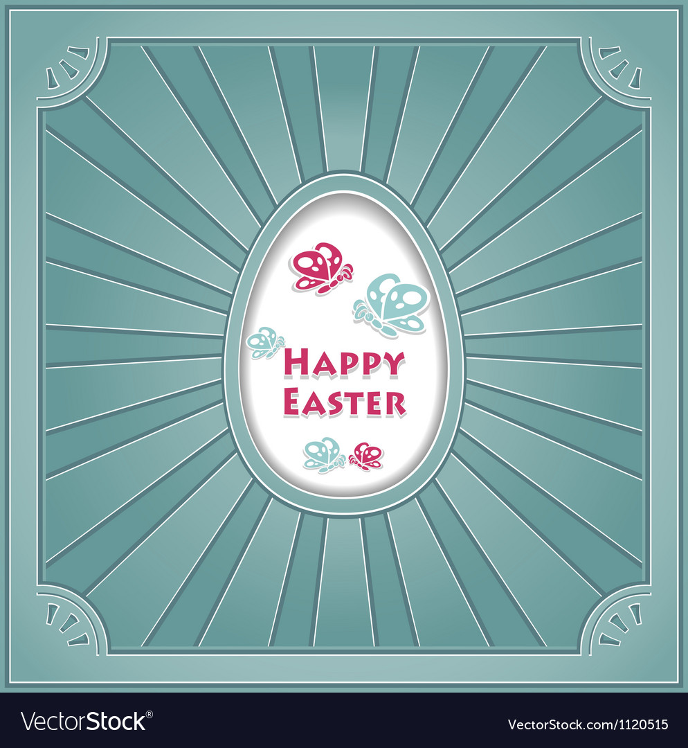 Happy easter with egg vector | Price: 1 Credit (USD $1)