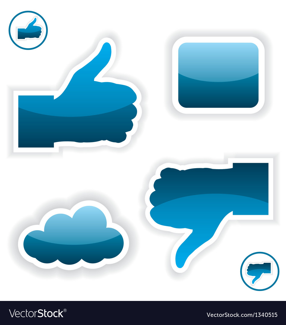 Like and unlike icons vector | Price: 1 Credit (USD $1)