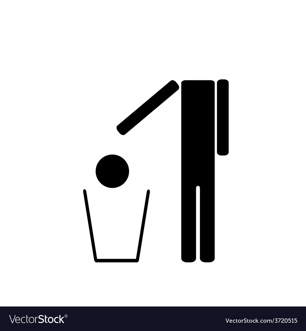 The man throws in the trash his head vector | Price: 1 Credit (USD $1)