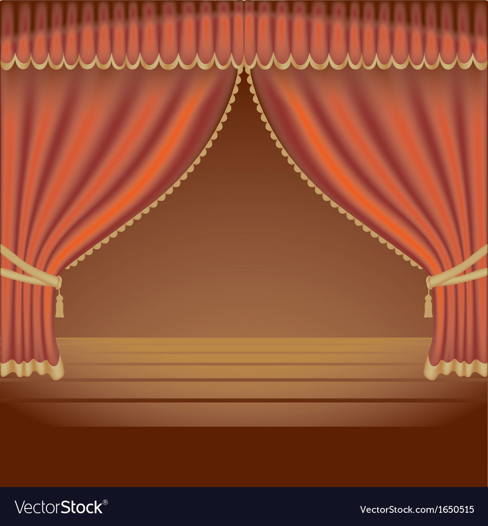 Red theater curtains vector | Price: 1 Credit (USD $1)