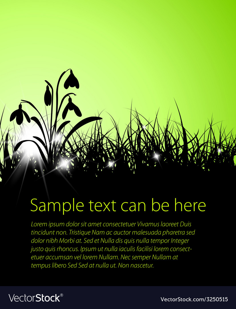 Spring grass background vector | Price: 1 Credit (USD $1)
