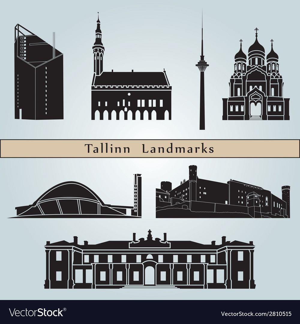 Tallinn landmarks and monuments vector | Price: 1 Credit (USD $1)