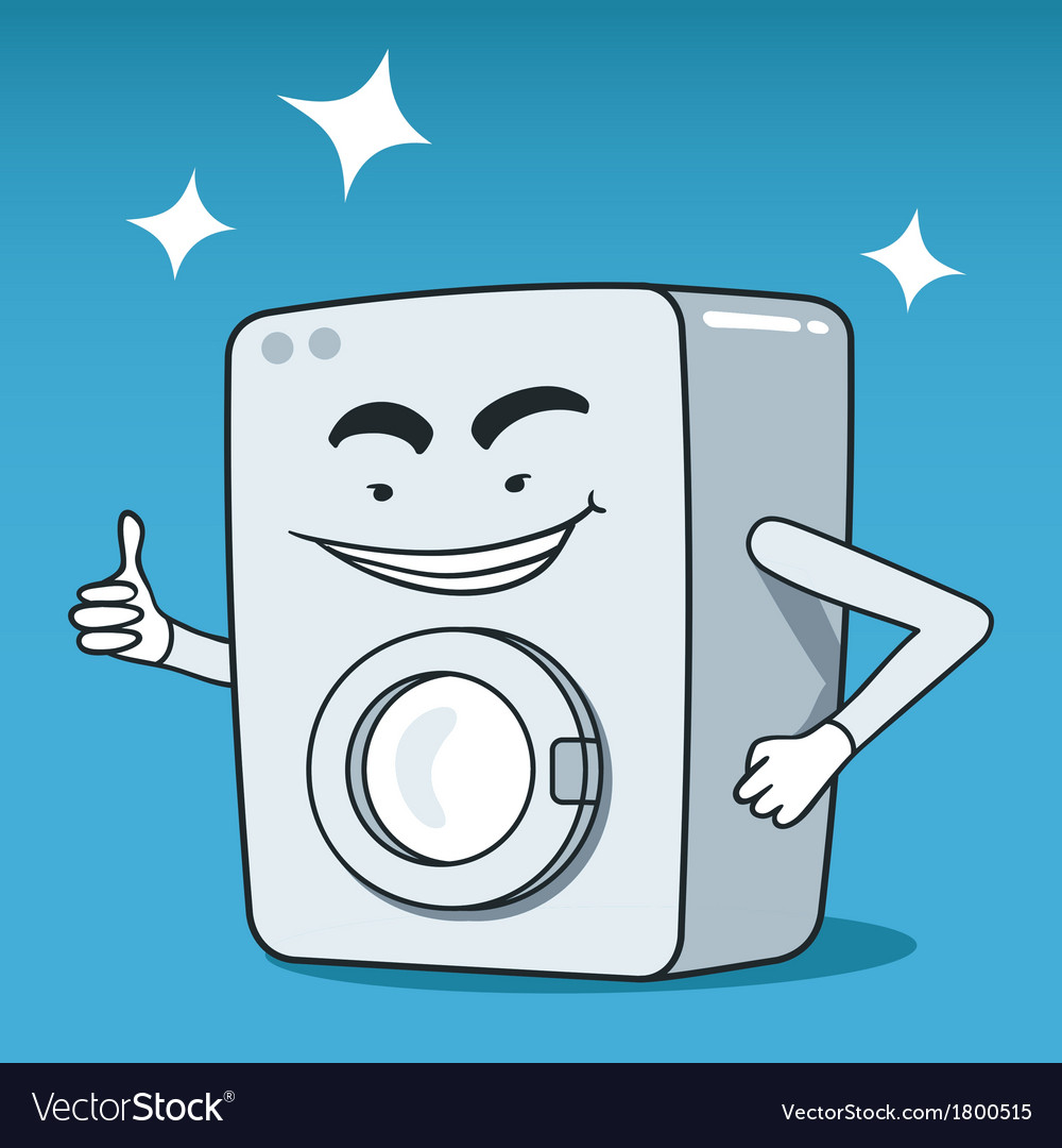 Washing machine character vector | Price: 1 Credit (USD $1)