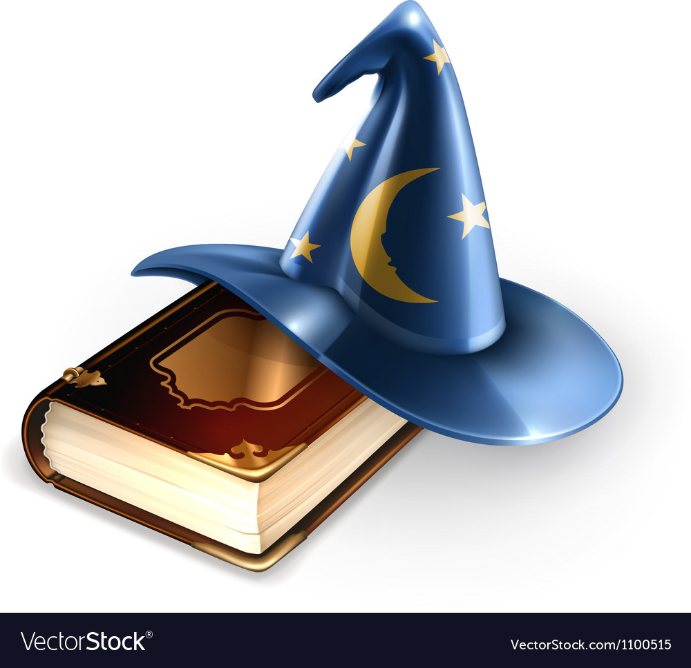 Wizard hat and old book vector | Price: 3 Credit (USD $3)