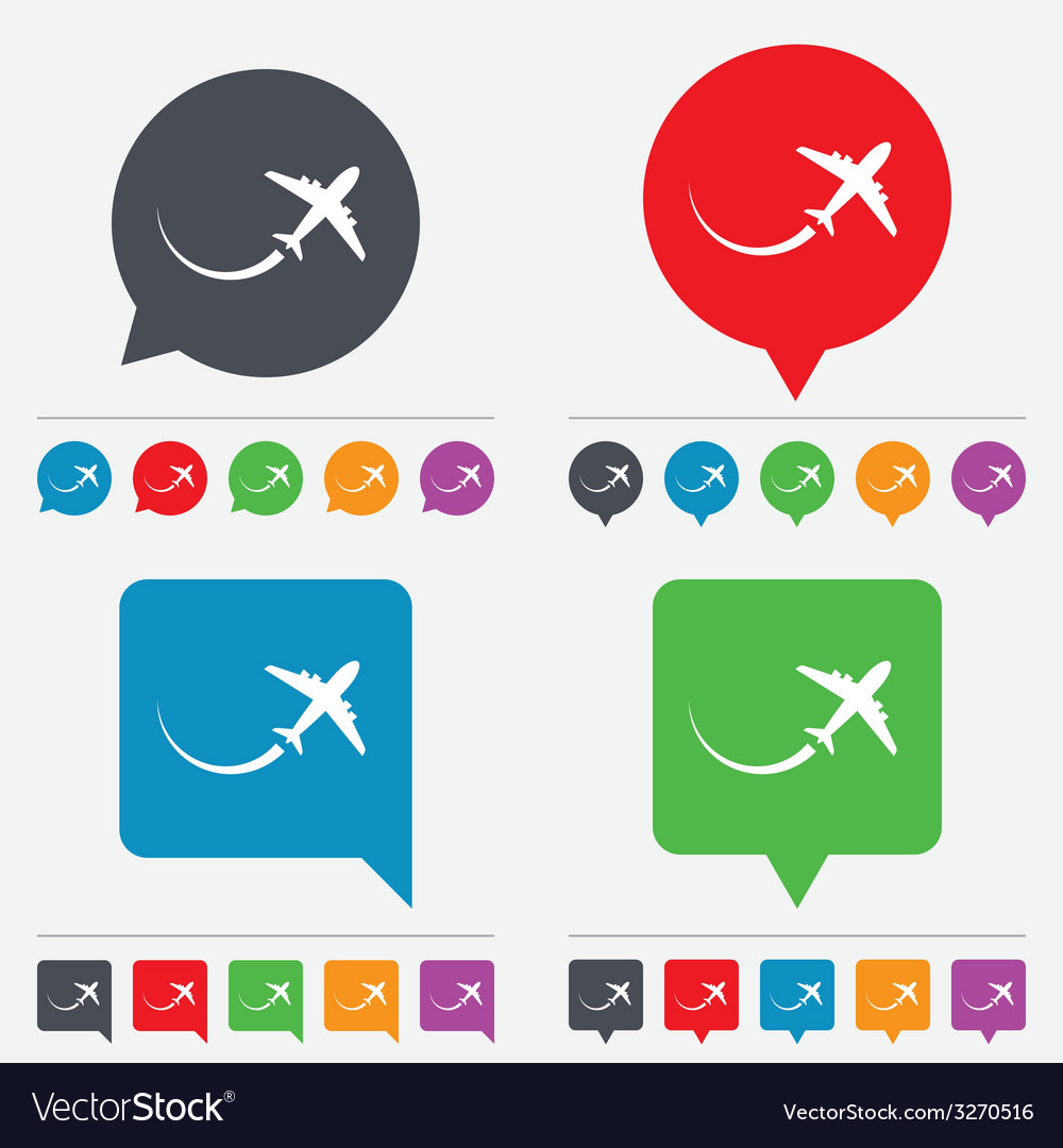 Airplane sign icon travel trip symbol vector | Price: 1 Credit (USD $1)