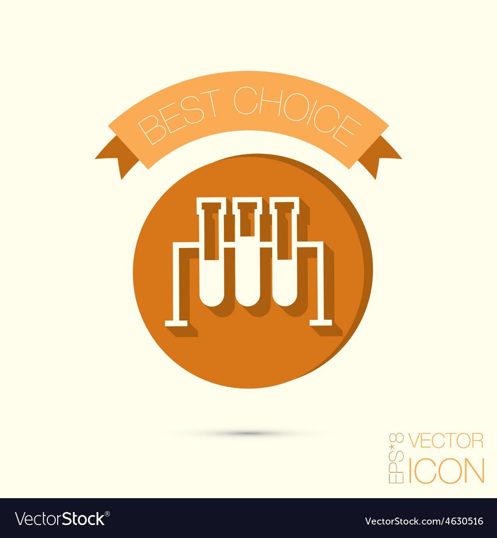 Bulb or beaker symbol icon of medicine or vector | Price: 1 Credit (USD $1)