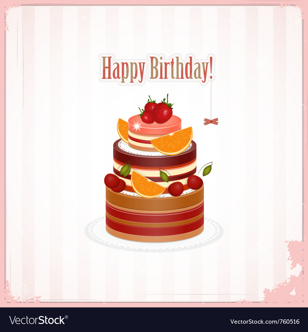 Chocolate berry cake vector | Price: 1 Credit (USD $1)