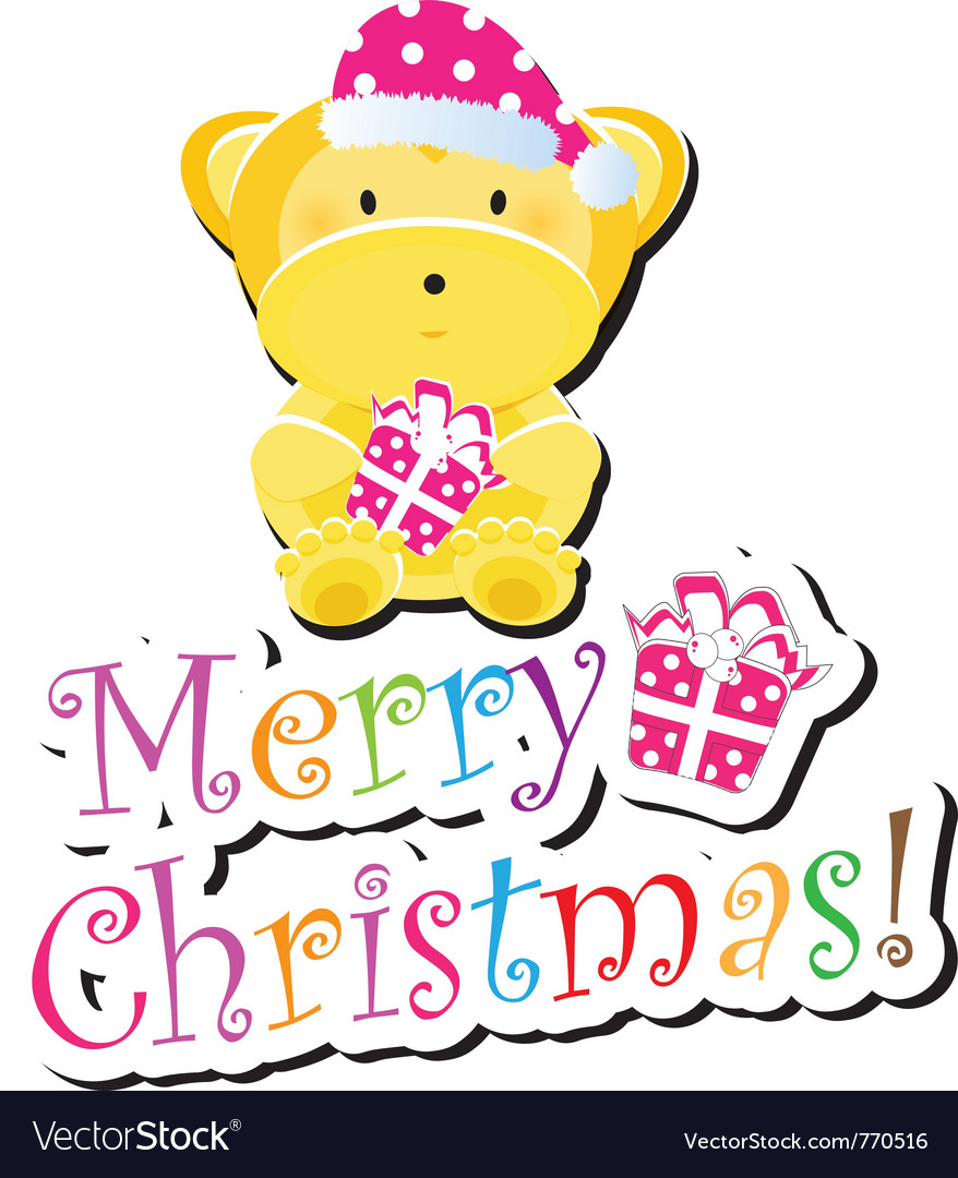 Christmas children card vector | Price: 1 Credit (USD $1)