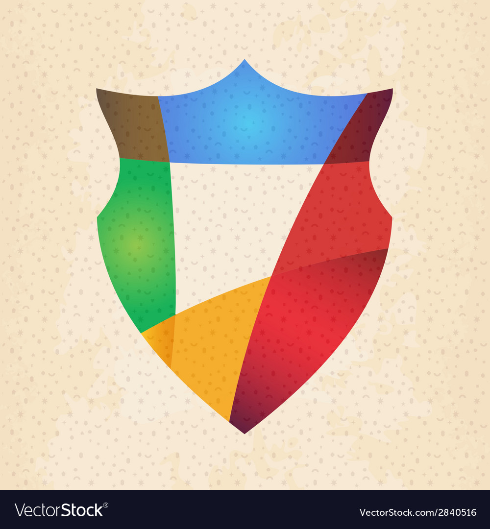 Colorful protection shield design concept vector | Price: 1 Credit (USD $1)