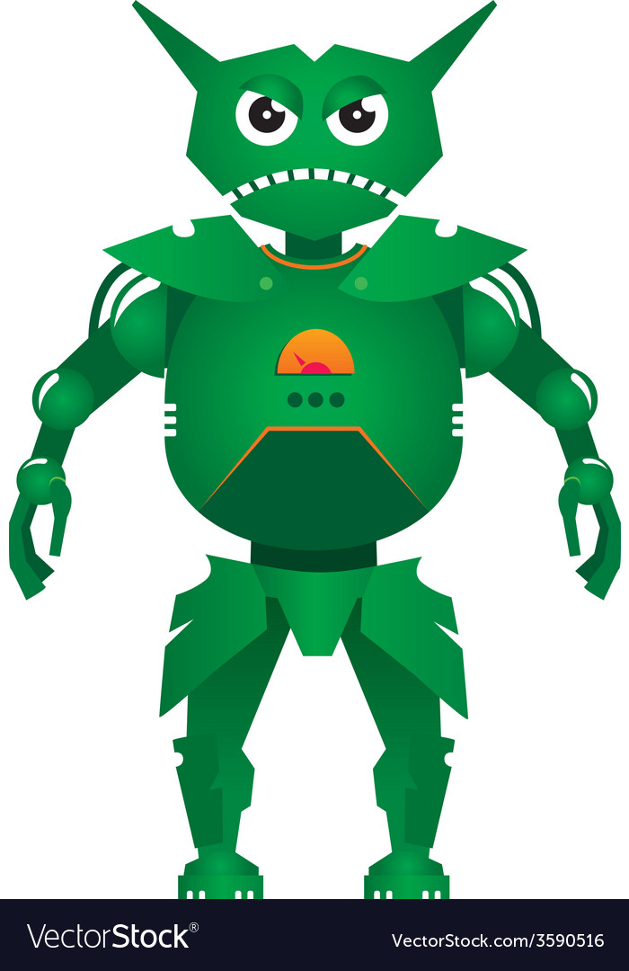 Combat robot vector | Price: 1 Credit (USD $1)