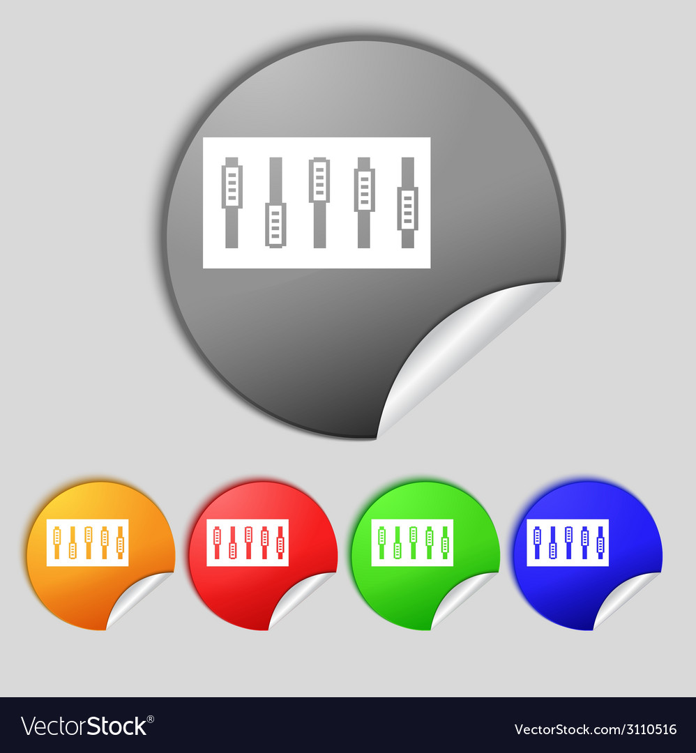 Dj console mix handles and buttons icon symbol vector   Price: 1 Credit (USD $1)