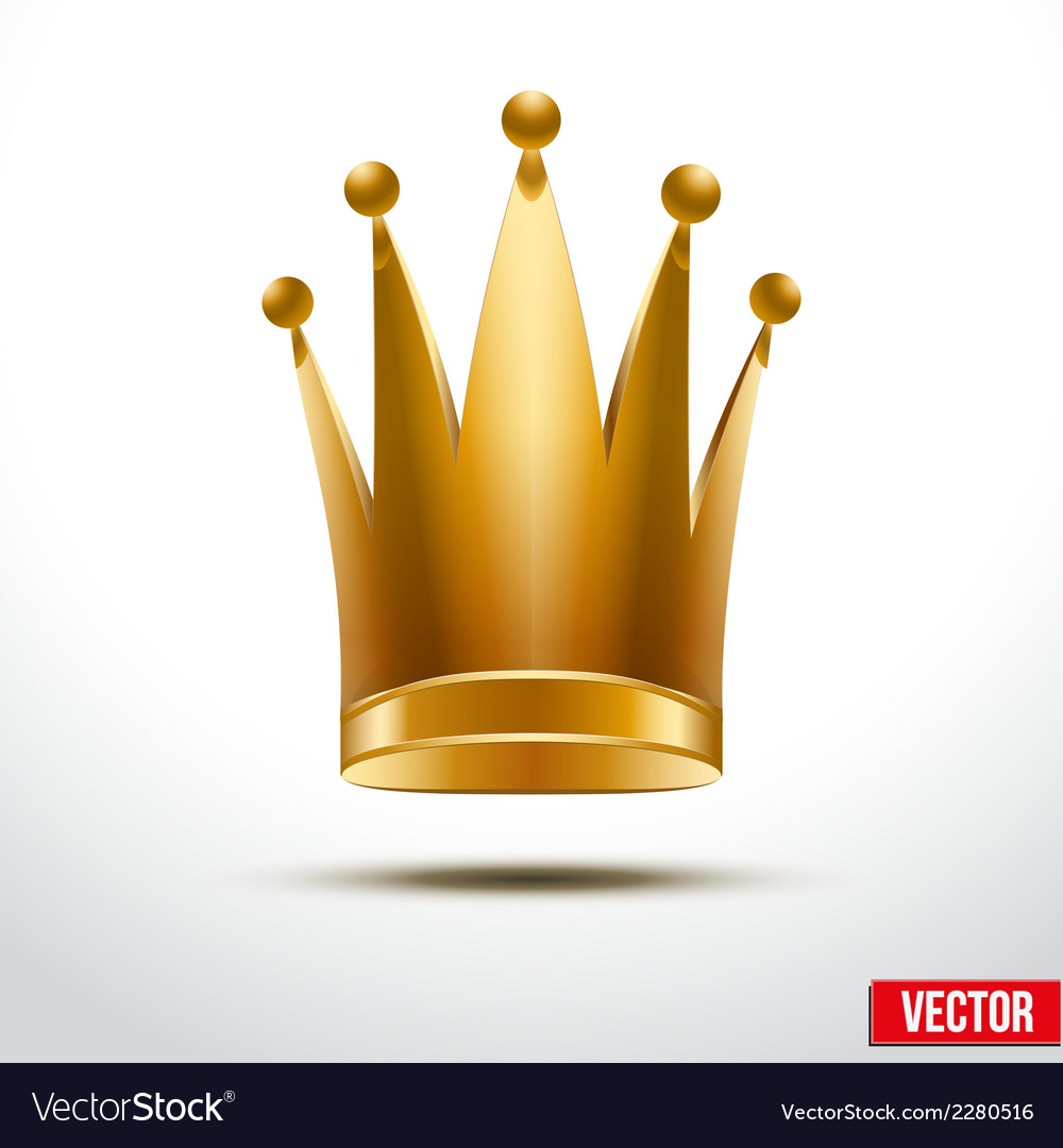Gold classic royal crown of queen or princess vector | Price: 1 Credit (USD $1)