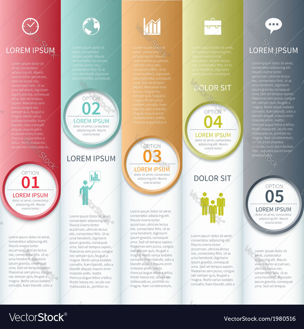 Modern business infographics options banner vector | Price: 1 Credit (USD $1)