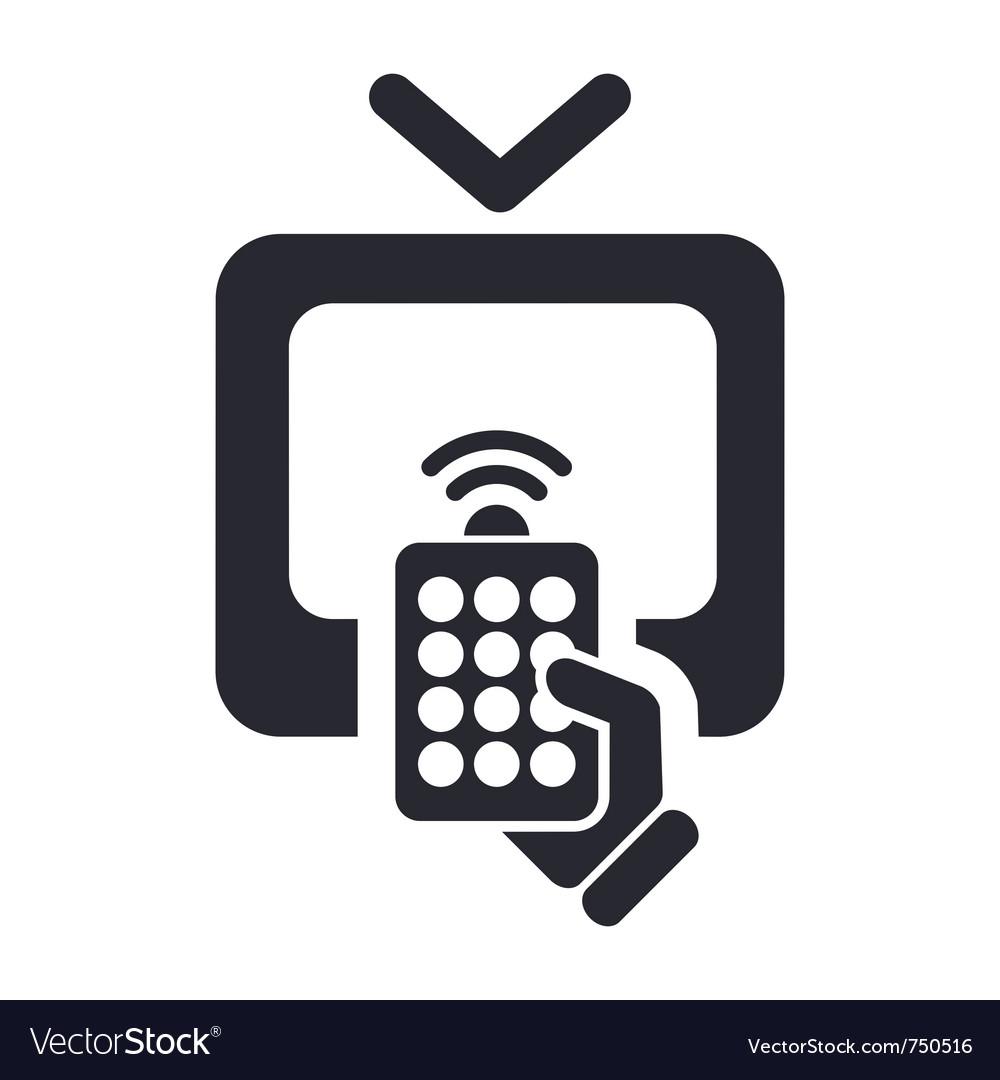 Remote tv icon vector | Price: 1 Credit (USD $1)