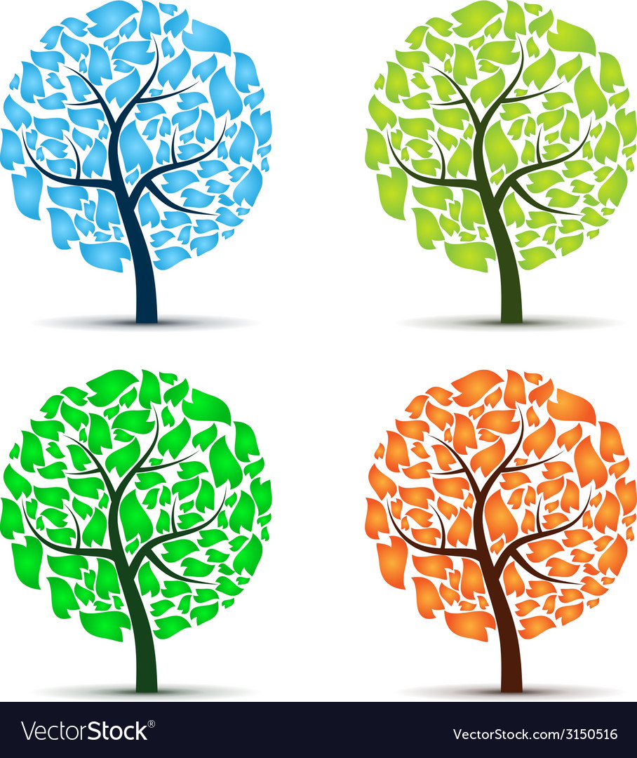 Seasons tree vector | Price: 1 Credit (USD $1)