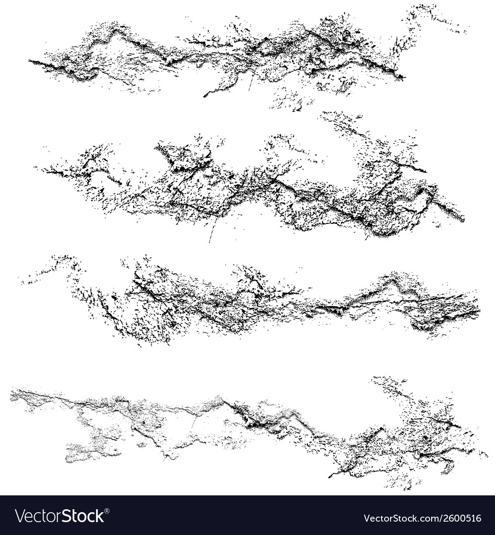 Set of grunge textures black and white scratches vector | Price: 1 Credit (USD $1)