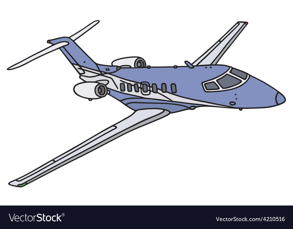 Small business jet vector | Price: 1 Credit (USD $1)