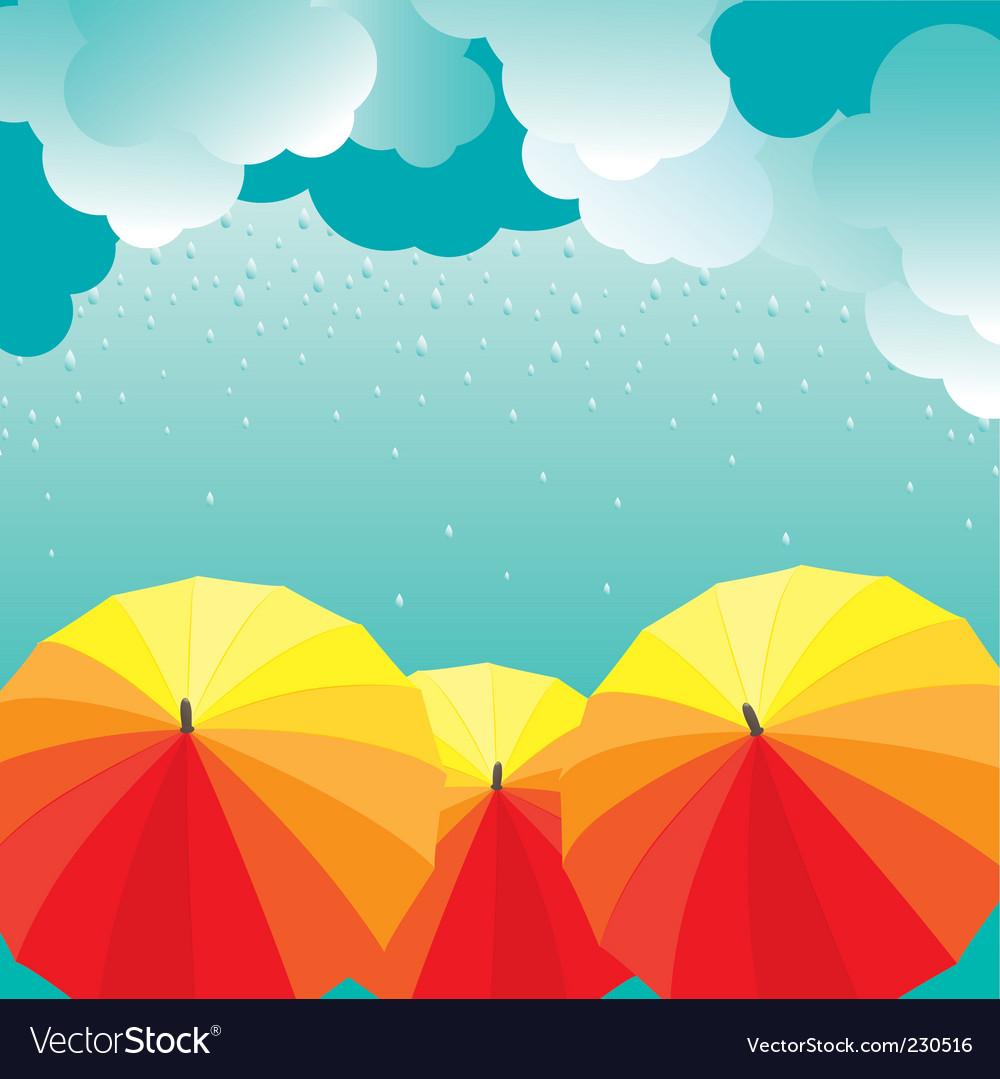 Umbrellas illustration vector | Price: 1 Credit (USD $1)