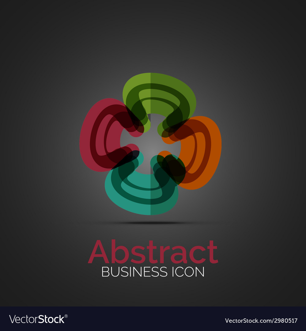 Abstract symmetric business icon vector | Price: 1 Credit (USD $1)