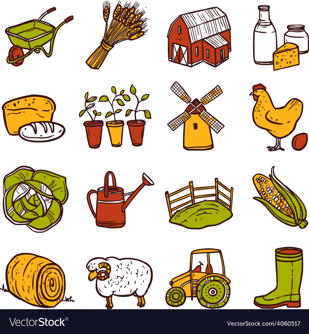Agriculture icons set vector   Price: 1 Credit (USD $1)
