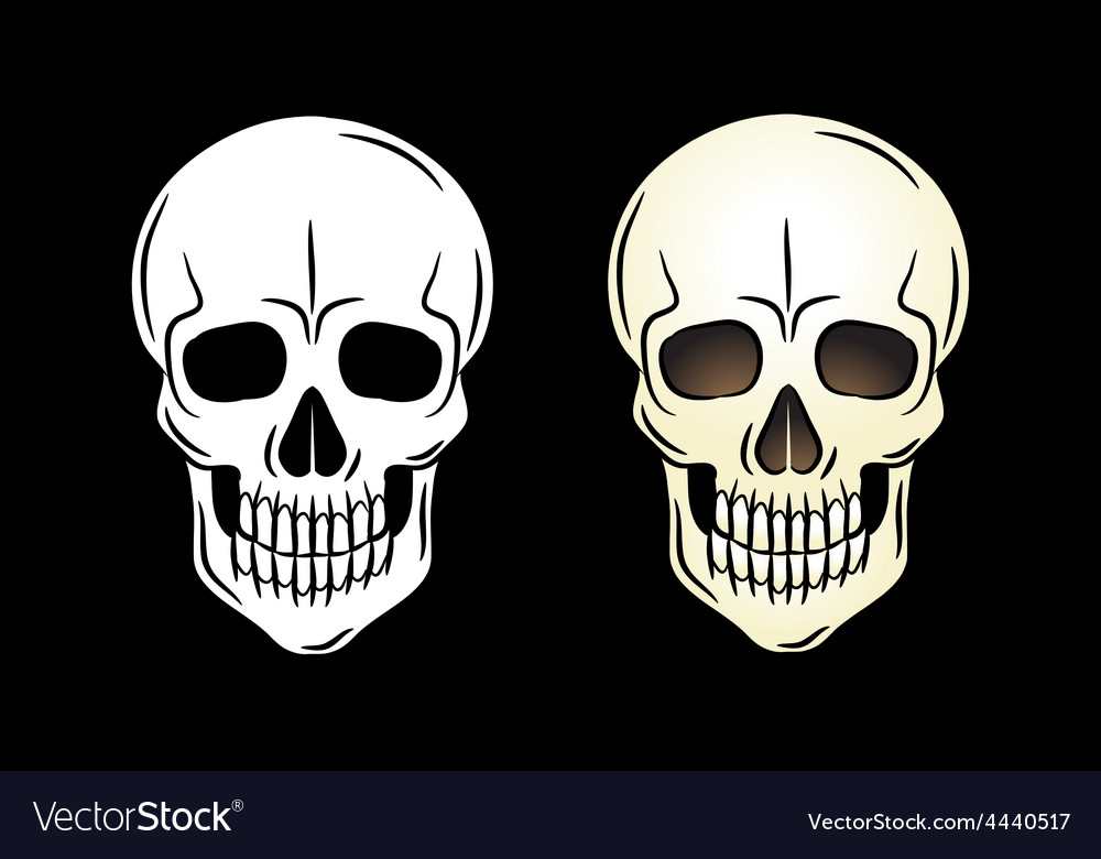 Artistic skull design emblem vector | Price: 1 Credit (USD $1)