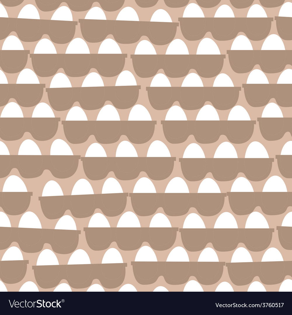 Boxes with eggs seamless pattern vector | Price: 1 Credit (USD $1)