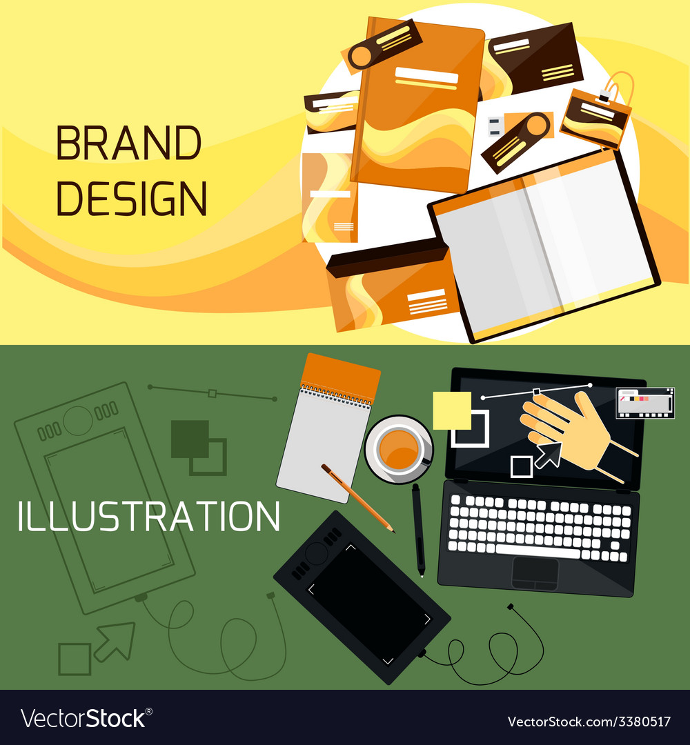 Brand and web design vector | Price: 1 Credit (USD $1)