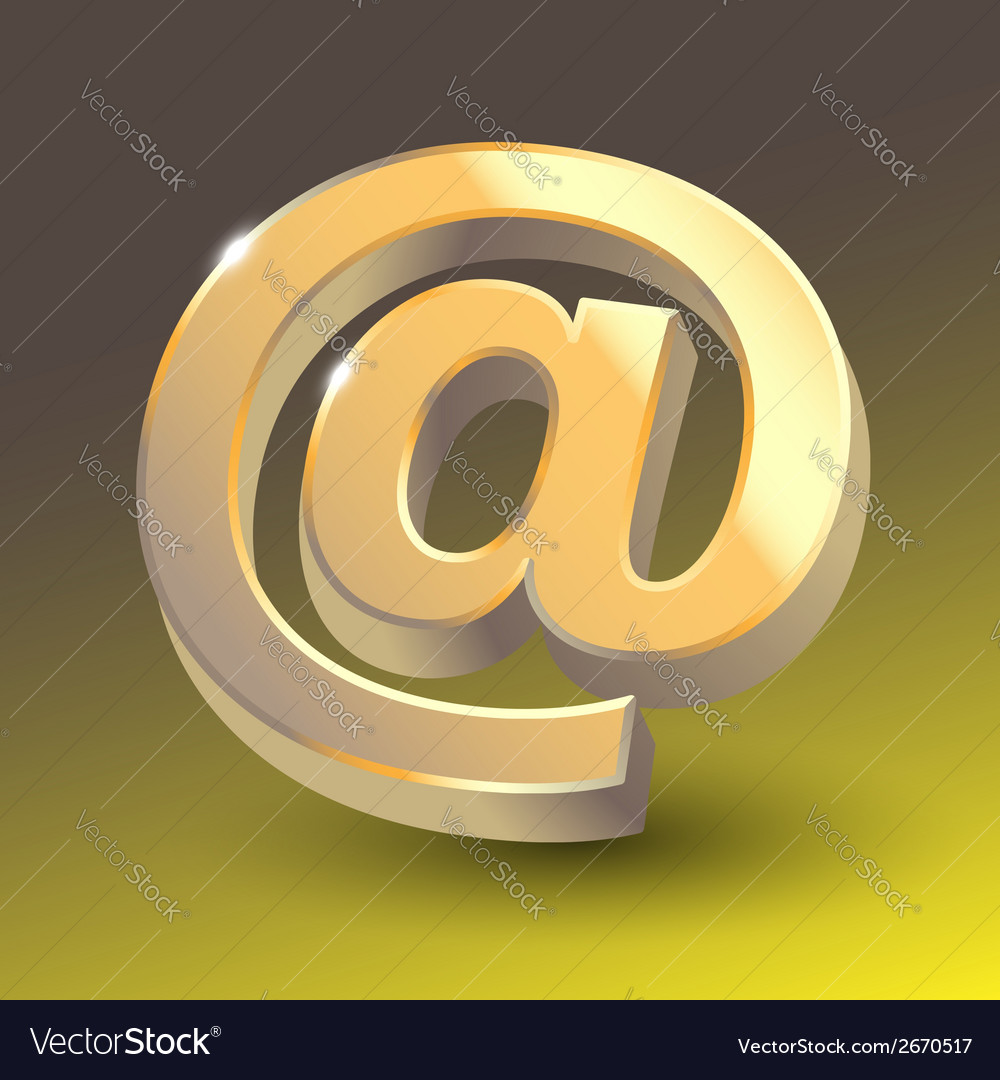 Colored email icon sign vector | Price: 1 Credit (USD $1)