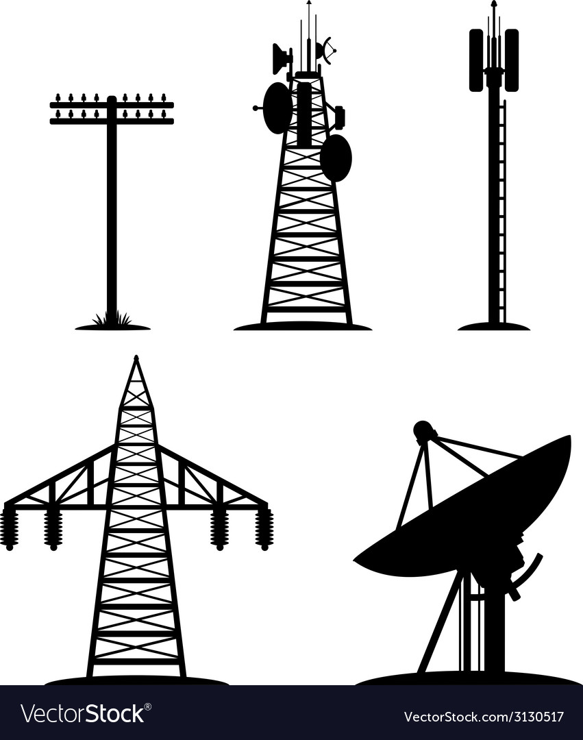 Communication constructions set vector | Price: 1 Credit (USD $1)