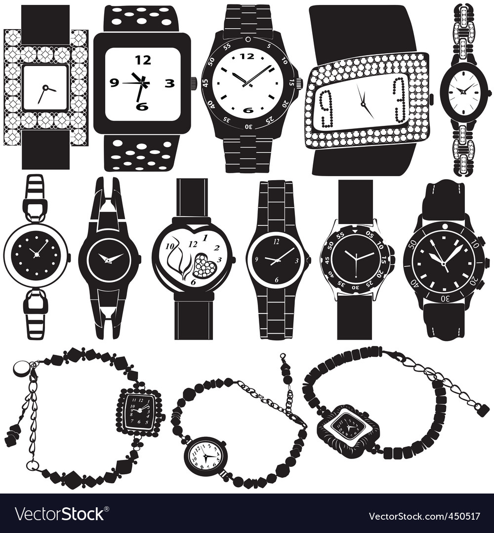 Fashion watch vector | Price: 1 Credit (USD $1)