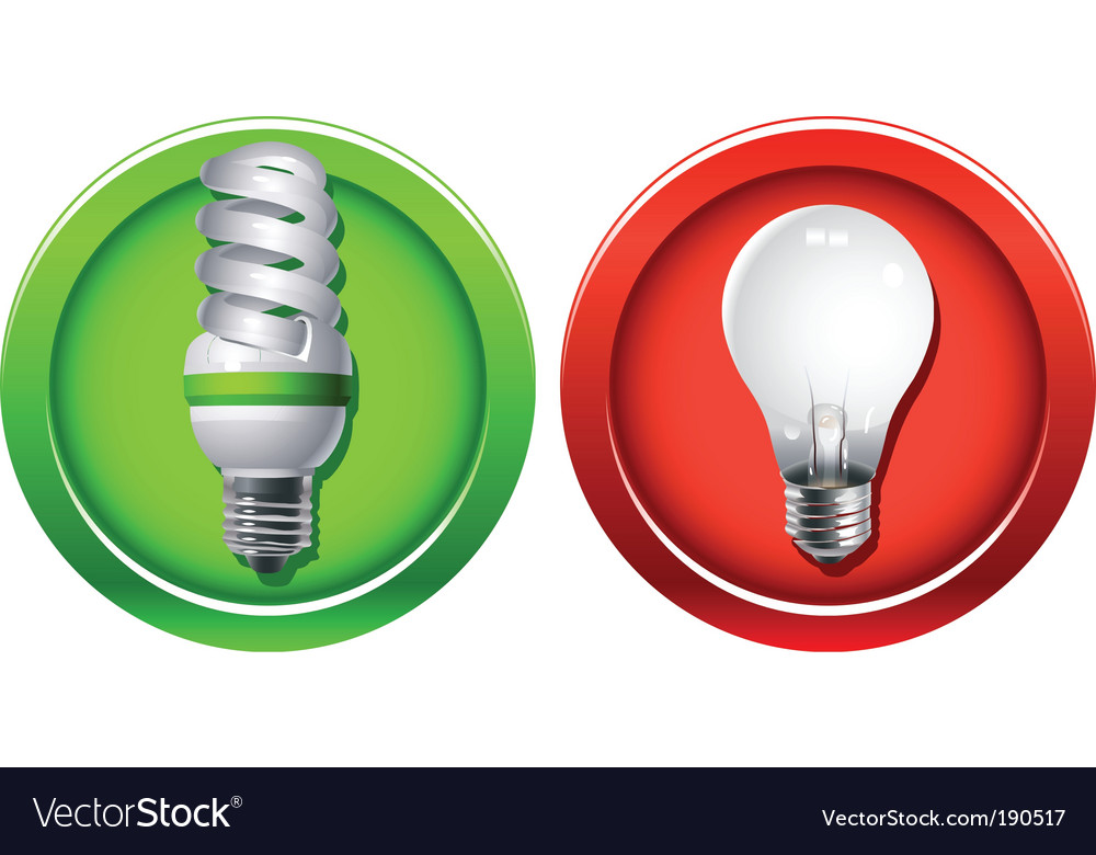 Replacement of outdated incandescent bulbs vector | Price: 1 Credit (USD $1)