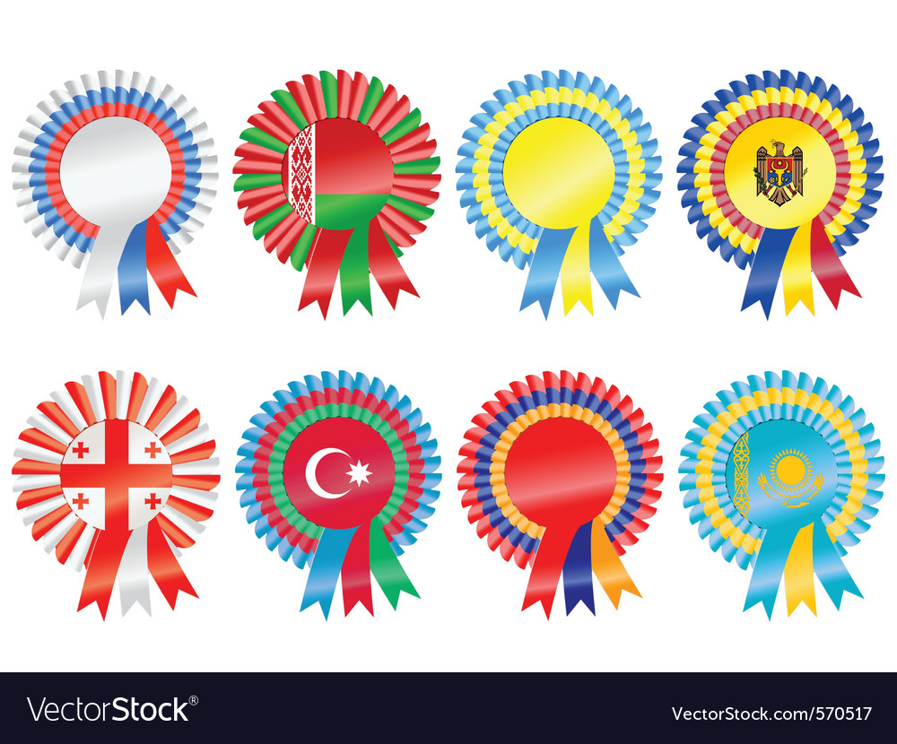 Rosettes to represent eastern european countries i vector | Price: 1 Credit (USD $1)