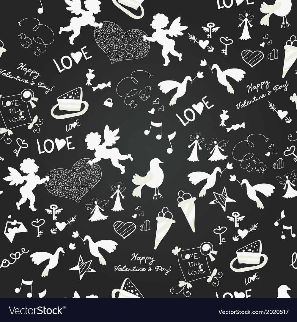 Seamless love romantic wedding vector | Price: 1 Credit (USD $1)
