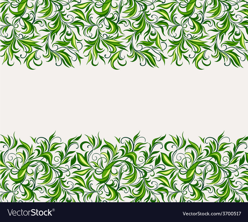 Stylized leaves and branches vector | Price: 1 Credit (USD $1)