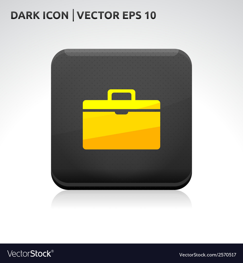 Suitcase icon gold vector | Price: 1 Credit (USD $1)