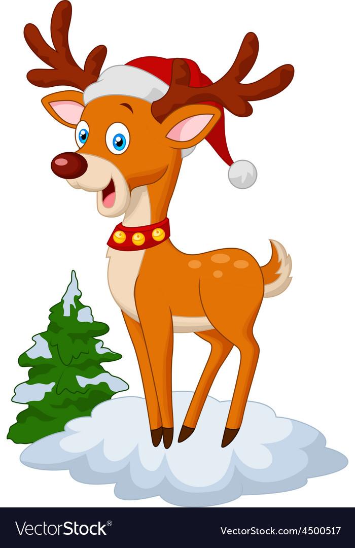 Sweet christmas deer vector | Price: 1 Credit (USD $1)