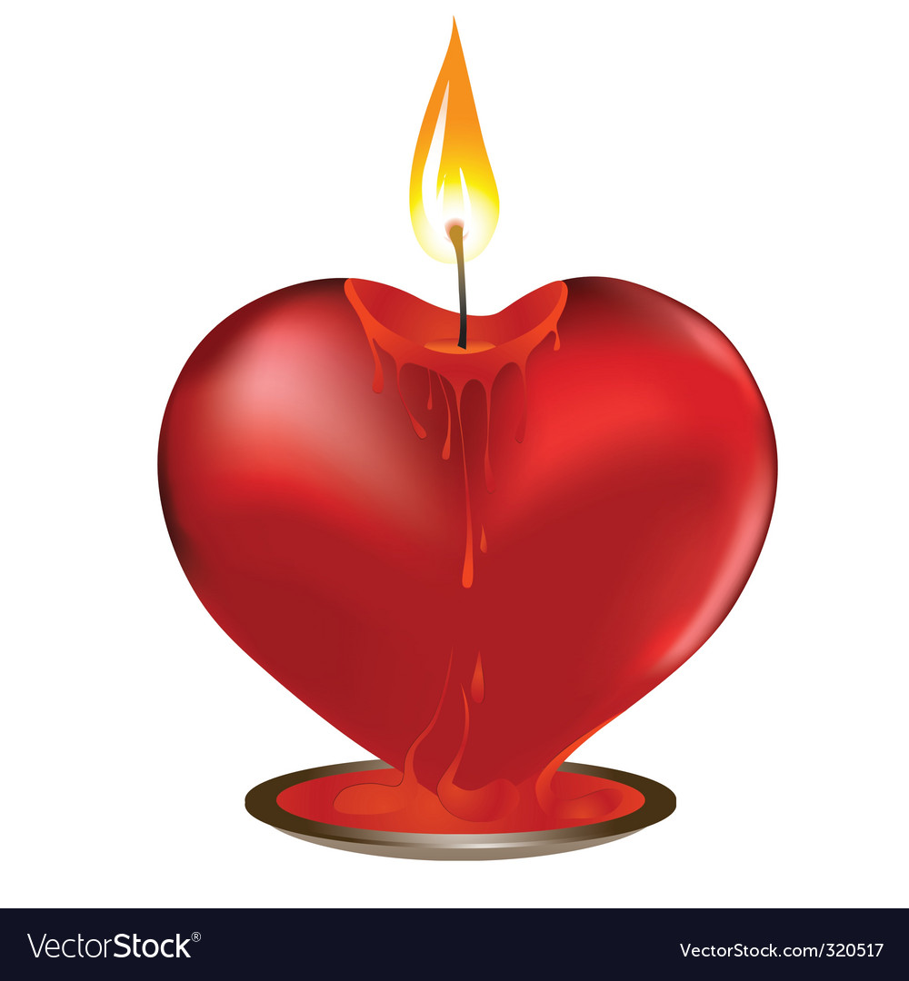 Valentine candle vector | Price: 1 Credit (USD $1)